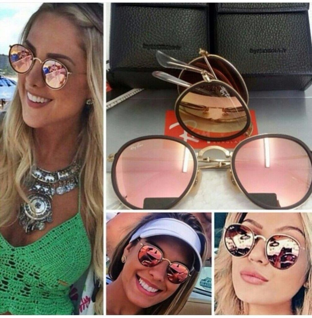 oculos ray ban redondo espelhado rosa   ALPHATIER dc5d549c67