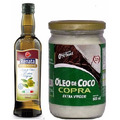 Kit Azeite Oliva E.v 500ml + Óleo De Coco Extra Virgem 500ml