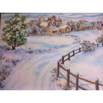 Paisagem De Inverno - Óleo Sobre Tela