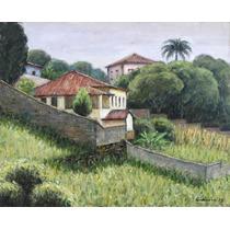 Quadro Pintura Óleo S/ Tela Paisagem 24x30cm Frete Grátis