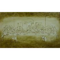 Tela Santa Ceia Pintura Quadro Jesus Sob/ Encomenda