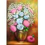 Quadro -óleo S/ Tela - Rosas Azuis