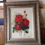 Quadro Pintura Óleo Rosas