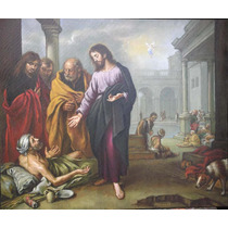 Quadro Tela Pintura Óleo Arte Sacra Por Encomenda 70x90cm