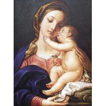 Quadro Óleo Tela Pintura Arte Sacra Por Encomenda 40x50cm