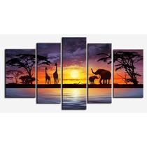 Pintura Em Tela Savanas Africanas (frete Grátis)