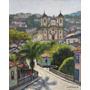Quadro Pintura Óleo S/ Tela Ouro Preto 24x30cm Frete Grátis