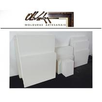 10 Telas Brancas 60 Cm X 90 Cm - Em Tecido Para Pintura