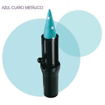 Lápis Kajal Delineador Sombra Azul Claro Metálico Avon Trend