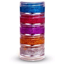 Kit Com 5 Glitters Cremosos Holográficos Para Maquiagens