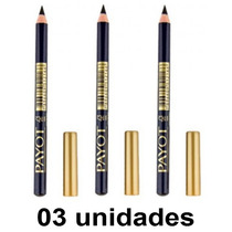 Kit Lápis Para Olhos Noir Payot Cor Preto - 03 Unidades