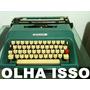Maquina De Escrever Olivetti Raridade Funcionando! Anos 80