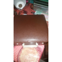 Máquina De Escrever Antiga Olivett Lettera Marrom Raridade