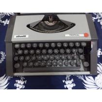 Máquina De Escrever Olivetti Tropical