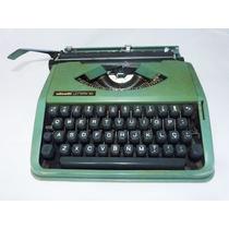 Máquina Escrever Olivetti Lettera 82 Linda Verde Reliquiaja