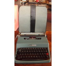 Máquina De Escrever Olivetti Lettera 32 Portátil Clássica