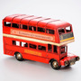 Enfeite Em Forma De London Bus De Ferro 32x11x17cm R 30034