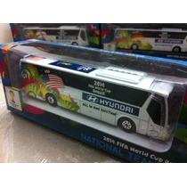 Miniatura Ônibus Seleção Copa Do Mundo Usa