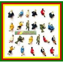 10 Figuras Humanas Sentadas Ho 1:87 Em Plástico