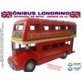 Ônibus Londres Miniatura Decoração Em Metal Grande