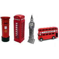 Miniaturas Ônibus Cabine Tel. Big Ben Caixa Correios Londres