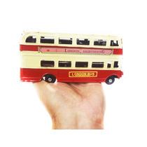 Onibus De Londres Vintage Retro 17cm Ferro Vermelho 2 Andar