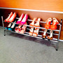Sapateira Extensível Cromada 12 Pares Organizador De Sapatos