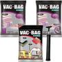 Kit 5 Saco A Vácuo Vac Bag 1 Médio +2 Grande +2 Jumbo+ Bomba