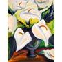Pintura Óleo Tela Vaso De Flores - Pintado À Mão 48x69