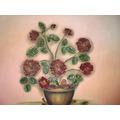 Pintura Em Tela- Quadros- Flores Secas Naturais.