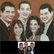 Desenho De Retrato / Caricatura / Pintura - 50 X70 Cm