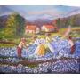 Quadro Pintura Em Tela - Colheita De Flores 98