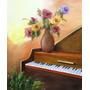 Pintura Quadro Óleo Sobre Tela O Piano