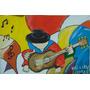 Quadro 20x30 Pintada À Mão - Arte Naif - Músico