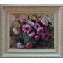 Pintura A Óleo S/ Tela -rosas 40x50 C/ Moldura Irisney Bosco