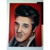 Elvis Presley - Pintura A Óleo Sobre Tela