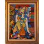 Quadro Mulher Sentada | Óleo Sobre Tela 50 X 70 Cm | Pintura