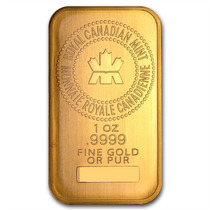 Barra Ouro 24 K Canadá 31 Gr 50x28x3mm Banho Ouro 24k R$1,00