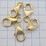 0893 Fecho Mosquetão Cada Um De Ouro 18k 750 W