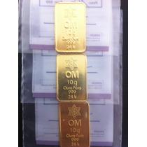 Barra De Ouro 24k Certificada 10 Gramas