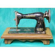 Decoração Antiga - Máquina De Costura Torpedo