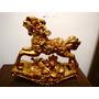 Caixa De Musica Carrossel Cavalo Em Dourado #675