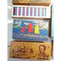1 Antigo Estojo Escolar D Pedro Em Madeira! Cartilha Caderno