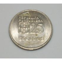 Moeda República Portuguesa 25 Escudos 1981