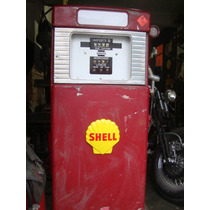 Texaco,shell,esso,antiga Bomba De Gasolina Wayne.