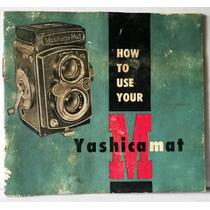 Manual Da Maquina Fotográfica M Yashica Mat Inglês N°648