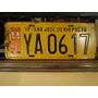 Antiga Placa Automotiva Amarela Sp - Ya 0617