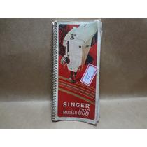 Manual Antigo Da Maquina De Costura Singer