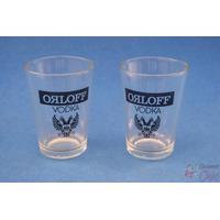 Par De Copos Promocionais Da Vodka Orloff Cchic