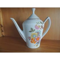 Antigo Bule E Leiteira Porcelana Pozzani Jundiaí Floral